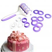 Fondant Cake Strip Lint Roller Cutter Cake Decoratie Mold Siliconen Deegroller Embosser Roller Set Bakken Tools KHGDNOR