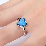 AST Works Magic Chic Heart Shaped Changing Color Feeling Mood Ring Temperature