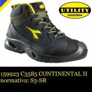 scarpa antinfortunistica diadora continental ii s3-sr - colore: blu/verde conifera calzature diadora