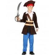 Vegaoo Piraten-Kostüm für Jungen braun blau