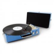 Auna Nostalgy Buckingham Tocadiscos maletín retro AUX Azul