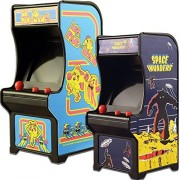 (Set) Miniature Classic Handheld Arcade Games Ms Pac-Man And Space Invaders