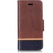 Mobigear Krokodil Leather Wallet Hoesje Bruin Xiaomi Mi A2 Lite