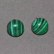 Cercei cu surub malachit semisfere 8mm
