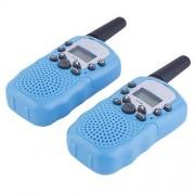 iFhome 1 Pair Walkie Talkie for Child Kids ,Mini 22CH FRS GMRS UHF 2 Way Radios,p to 2KM Talk Range Kids Toy (Blue)