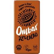 Ciocolată bio raw OMBAR 72% cacao