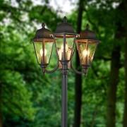 Lampenwelt.com Candélabre Edana à 3 lampes en gris graphite - LAMPENWELT.com