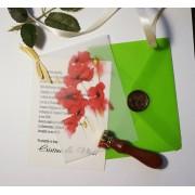 Invitatie nunta cu sigiliu OPIS047