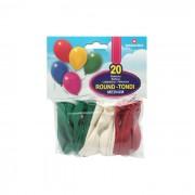 Pegaso palloncini bianco/rosso/verde 20 pezzi