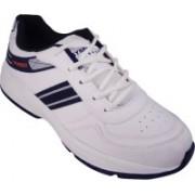 Action White Blue Sport running Shoe -7101 Walking Shoes For Men(White)