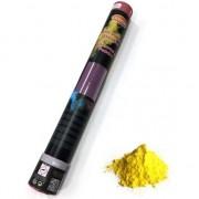 Merkloos Kleurenpoeder shooters geel 40 cm