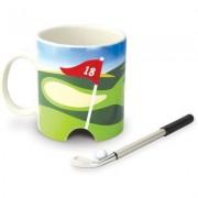 geschenkidee.ch Golf Kaffeebecher mit Loch, Stift und Ball