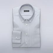 Tailor Store Vit/Svartrandig Oxfordskjorta