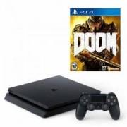 Конзола PlayStation 4 Slim 500GB Black + Игра Doom за PS4