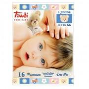 Trudi baby care pannolini dry fit junior 11/25 kg 16 pz