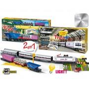 Set constructie - Trenulet electric calatori si marfa, Renfe+