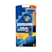 Gillette Sensor3 pohotové holítko 8 ks pro muže