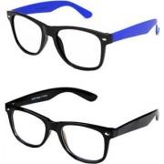 Ivonne Clear Wayfarer Sunglasses (Black Blue)