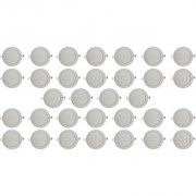 Bene LED 12w Round Slim Panel Ceiling Light Color of LED Warm White (Yellow) (Pack of 32 Pcs)