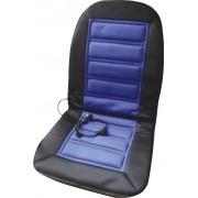 Husă scaun cu încălzire 12 V, 2 trepte de încălzire, negru-albastru, HP Autozubehör