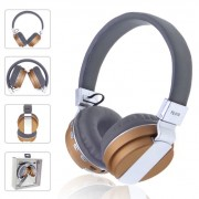 Foldable Stereo Over-ear Bluetooth 4.0 Headset Support TF Card/FM/Aux-in - Gold