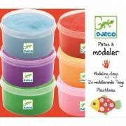 Zestaw mas plastycznych w kubeczkach - 6 różnych kolorów, DJECO DJ08864