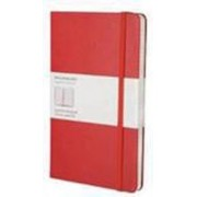Moleskine Large Squared Notebook Red, Paperback
