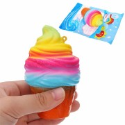 YunXin Squishy Ice Cream 10cm Slow Rising With Packaging Phone Bag Strap Decor Gift Collection Toy