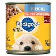 Patê Para Cães Filhotes Pedigree Vital Pro Sabor Carne e Frango Lata 280g