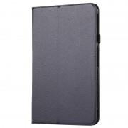 Samsung Voor Samsung Galaxy Tab A 10.1 / T580 Litchi structuur magnetische horizontaal flip lederen hoesje met houder(zwart)