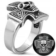 Inel inox Skull Cross B3070