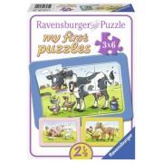 PUZZLE ANIMALE PRIETENI, 3X6 PIESE - RAVENSBURGER (RVSPC06571)