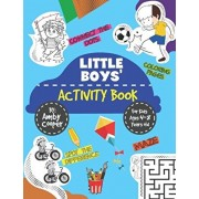 Little Boys' Activity Book: For Kids 4 to 8 Years, Easy and Fun Acitivities - Coloring, Maze Puzzles, Connect the Dots, and Spot the Difference, Paperback/Amby Cooper