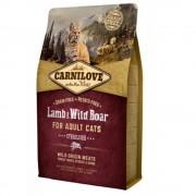 Hrana uscata pentru pisici Carnilove Cat Sterilised cu Miel si Mistret, 2 Kg