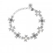 Ottoman Silver Bracciale in argento con croci e perle coltivate