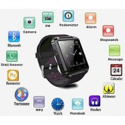 Bluetooth Smartwatch Black with apps (facebook whatsapp twitter etc.) compatible with Samsung Galaxy S6 by Creative