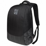 Eume Wave Massager 26 Ltr Laptop Backpack For 15.6 inch Laptop and Nylon Water Resistance Backpack With 2 USB Charging Port- Black and Grey