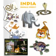 UNTOLD DIY 3D MODELING PAPER CONSTRUCTION KIT PUZZLE ASSEMBLING KNOWLEDGE LEARNING AND EDUCATIONAL TOY GIFT(JUNGLE STORY SET OF 4 TOYS)