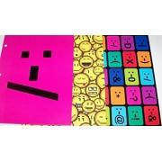 Emoticon 3 Folder Set ~ Large Pink Face, Faces, Neon Fun Faces