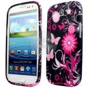 Samsung I9300 Galaxy S III Black Butterfly Калъф + Протектор