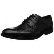 Clarks Men's Prangley Limit Black Leather Clogs and Mules - 8 UK/India (42 EU)