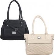Element Cart Women Black, Beige Messenger Bag(Pack of: 2)