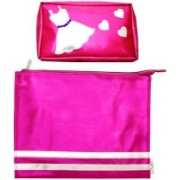 Lill Pumpkins Pink Kit Dress and Pink Zip Folder Combo Set(Pink)
