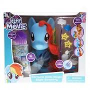 My Little Pony The Movie Styling Head Girls Hair Dress Doll - Rainbow Dash