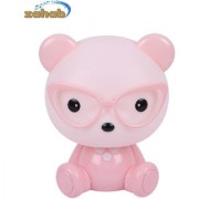 Zahab Cute Pink Teddy Bear Cartoon Led Desk Lamp/Table Lamp/Night Light for Kids