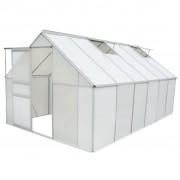 vidaXL Seră din policarbonat și aluminiu 490 x 250 x 195 cm