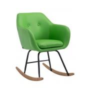 CLP Sedia a dondolo Avalon, in similpelle, verde , verde, altezza seduta