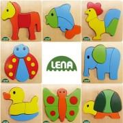 PUZZLE LEMN ANIMALE - LENA (LE32060)