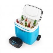 Auna Picknicker Trolley Music Cooler, hűtődoboz, bőrönd, 36 l, BT hangfal, kék (BLG2-CB-36BL)