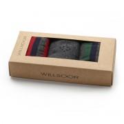Set 3 perechi de șosete bărbătești, în culoarea gri-verde-roșu 9961